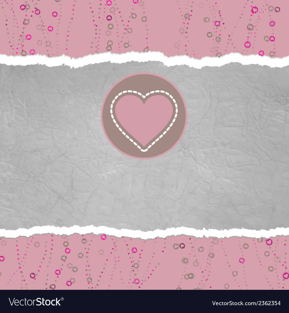 Valentine card with heart eps 8 vector   Price: 1 Credit (USD $1)