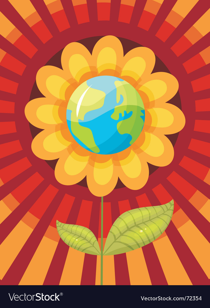 World flower vector | Price: 1 Credit (USD $1)