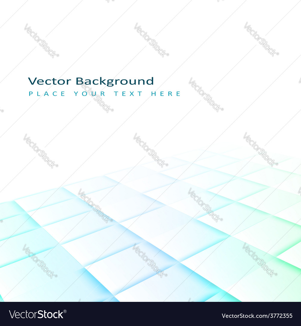Abstract perspective background with square tiles vector | Price: 1 Credit (USD $1)