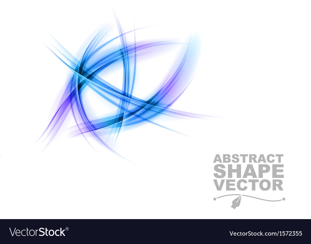 Abstract shapes on white only blue vector | Price: 1 Credit (USD $1)