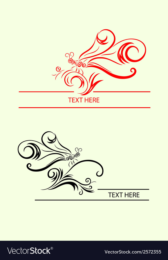 Dragonfly label decoration vector | Price: 1 Credit (USD $1)