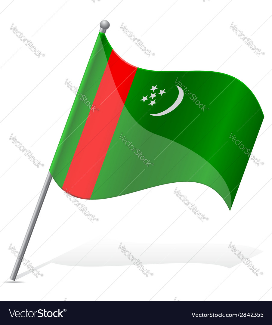 Flag of turkmenistan vector   Price: 1 Credit (USD $1)