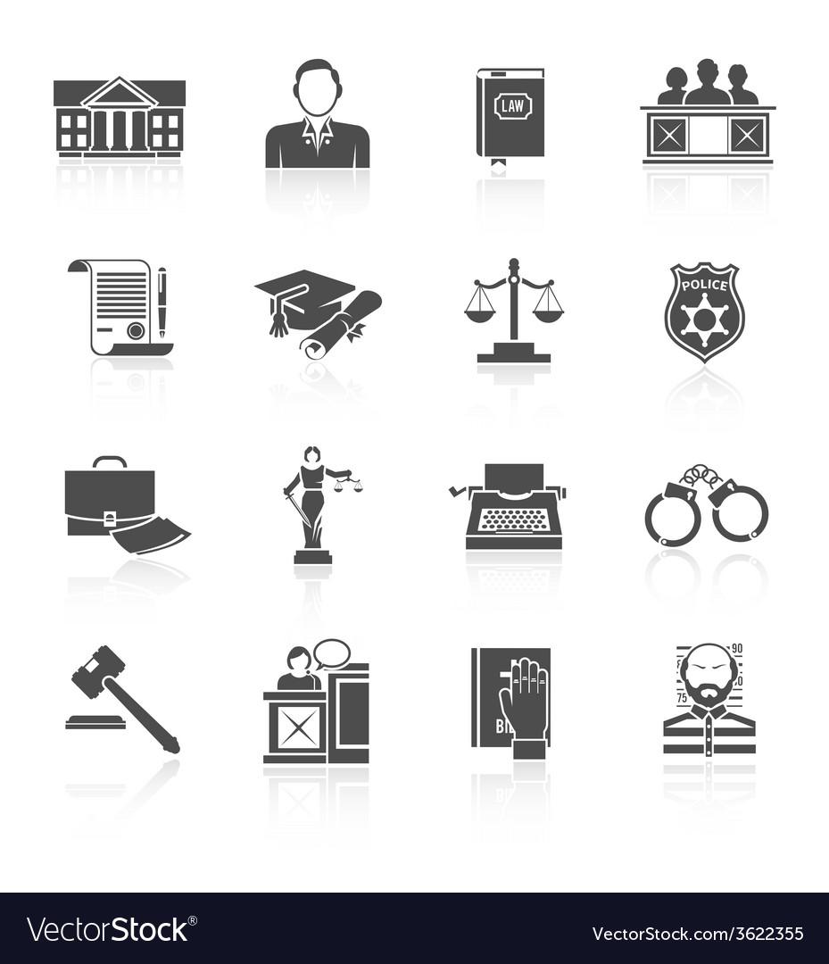 Law icon set vector | Price: 1 Credit (USD $1)