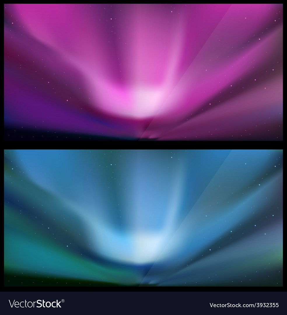 Nothern blue aurora backgrounds vector | Price: 1 Credit (USD $1)