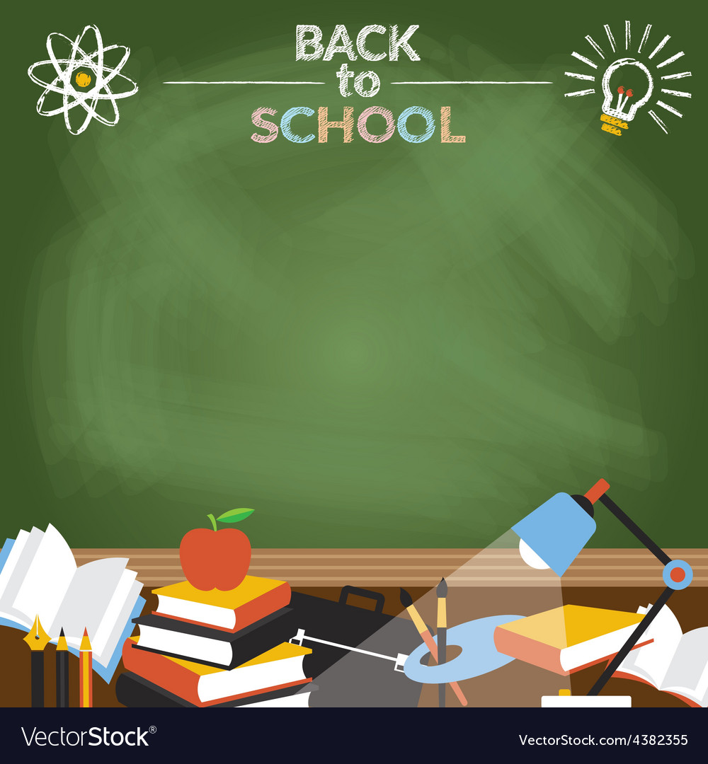 School education objects with copy space vector | Price: 1 Credit (USD $1)