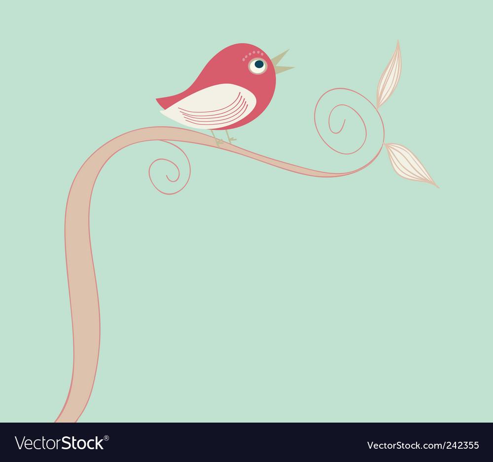 Singing bird vector | Price: 1 Credit (USD $1)