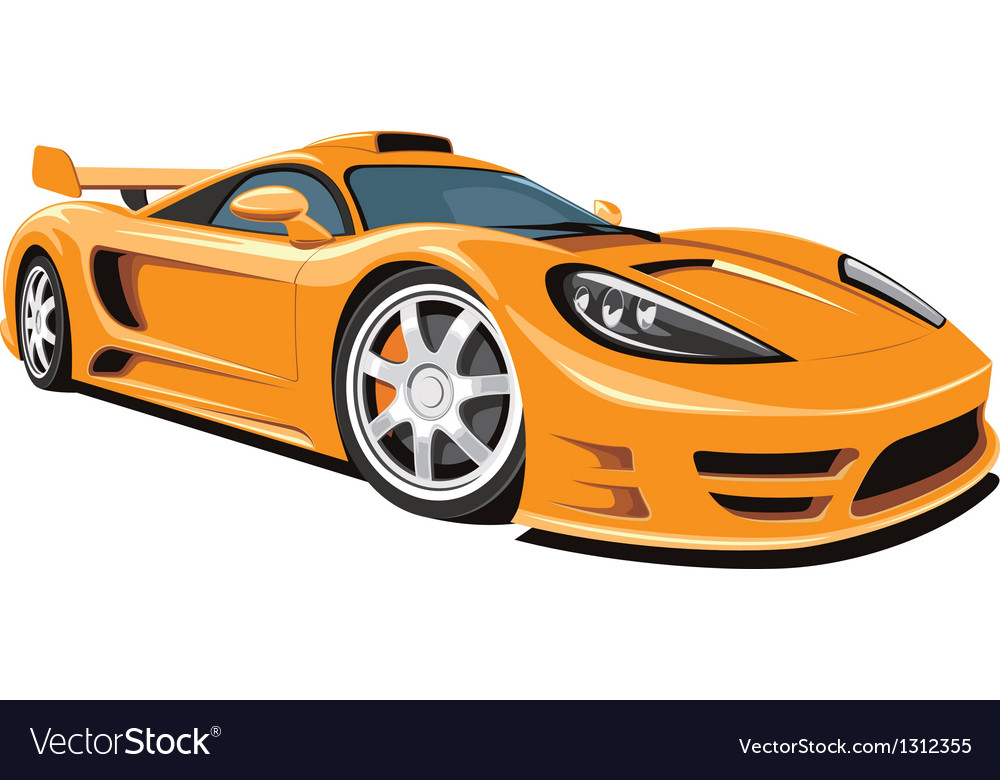 Sports car vector | Price: 5 Credit (USD $5)