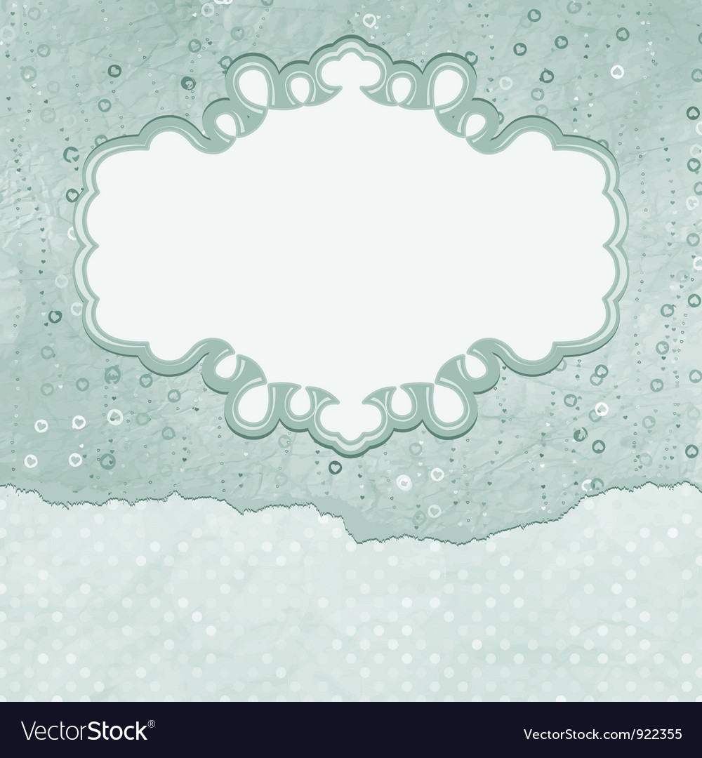 Vintage elegant hearts card vector | Price: 1 Credit (USD $1)