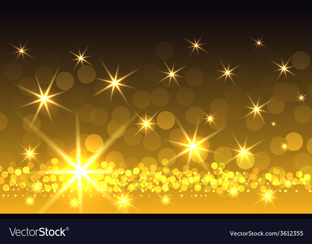 Yellow sparkling starburst christmas background vector | Price: 1 Credit (USD $1)