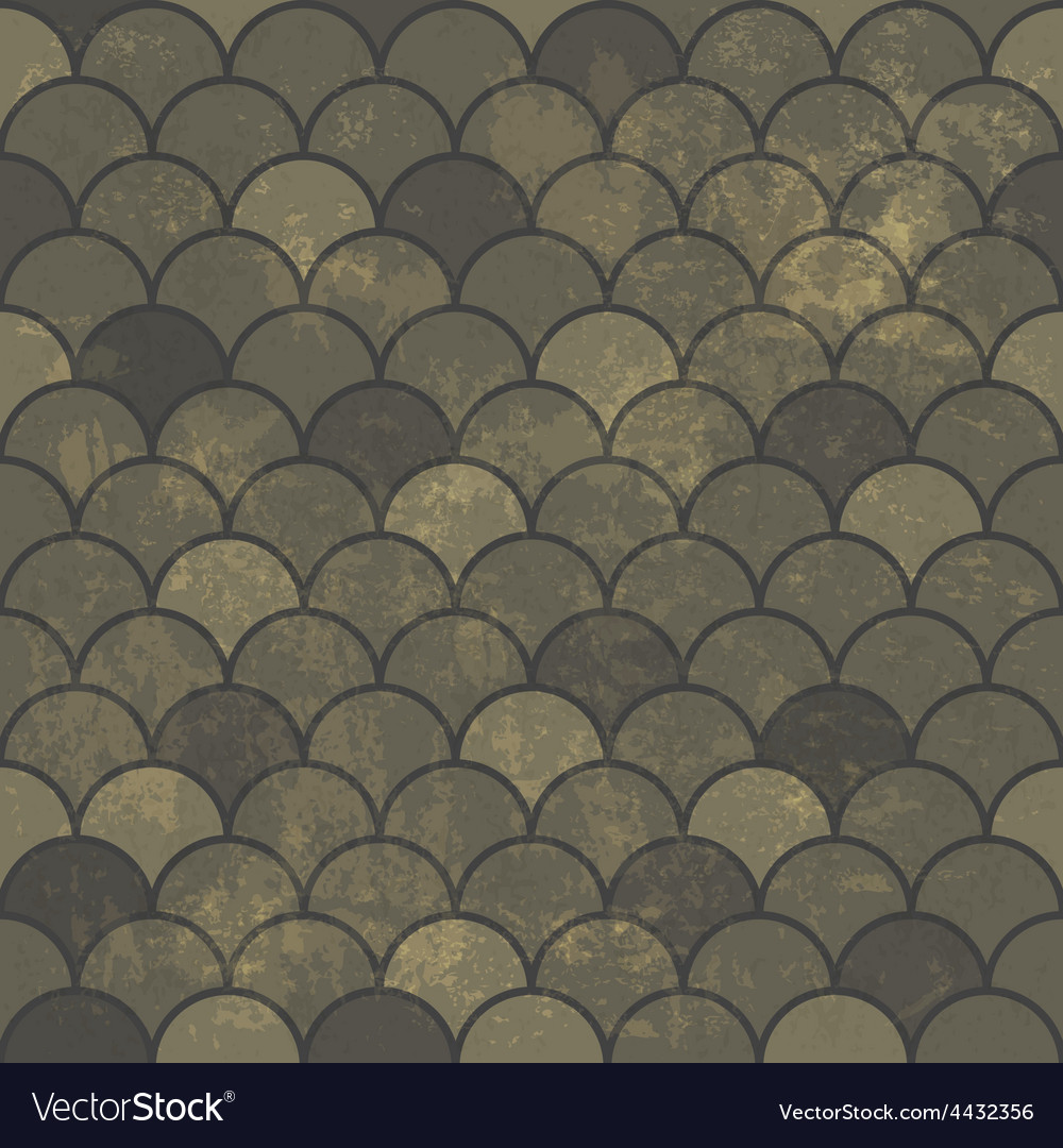 Aged scale seamless pattern vector | Price: 1 Credit (USD $1)