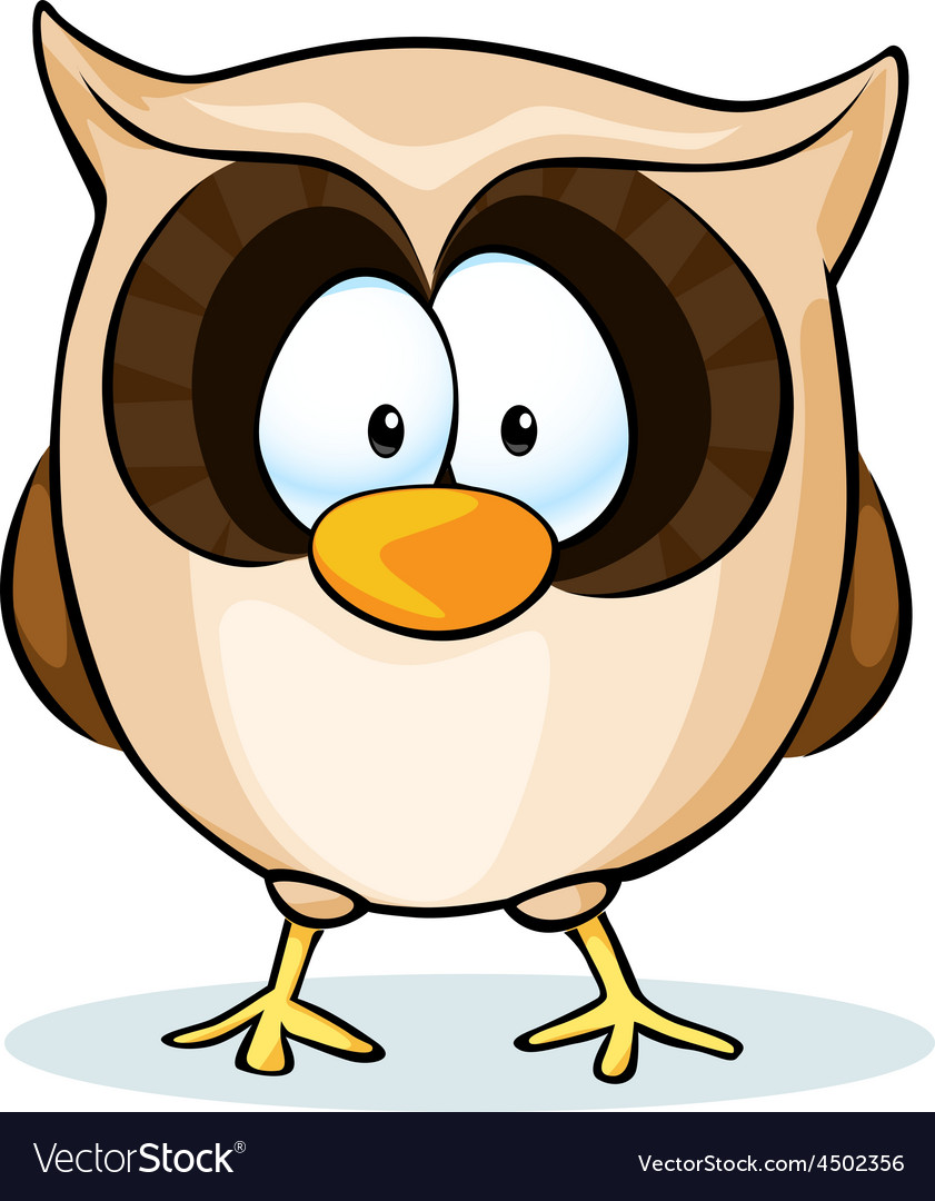 Cute owl - isolated on white background vector | Price: 1 Credit (USD $1)