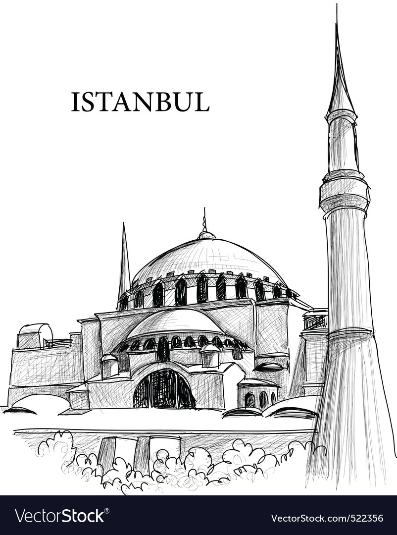 Istanbul st sophia cathedral vector | Price: 1 Credit (USD $1)