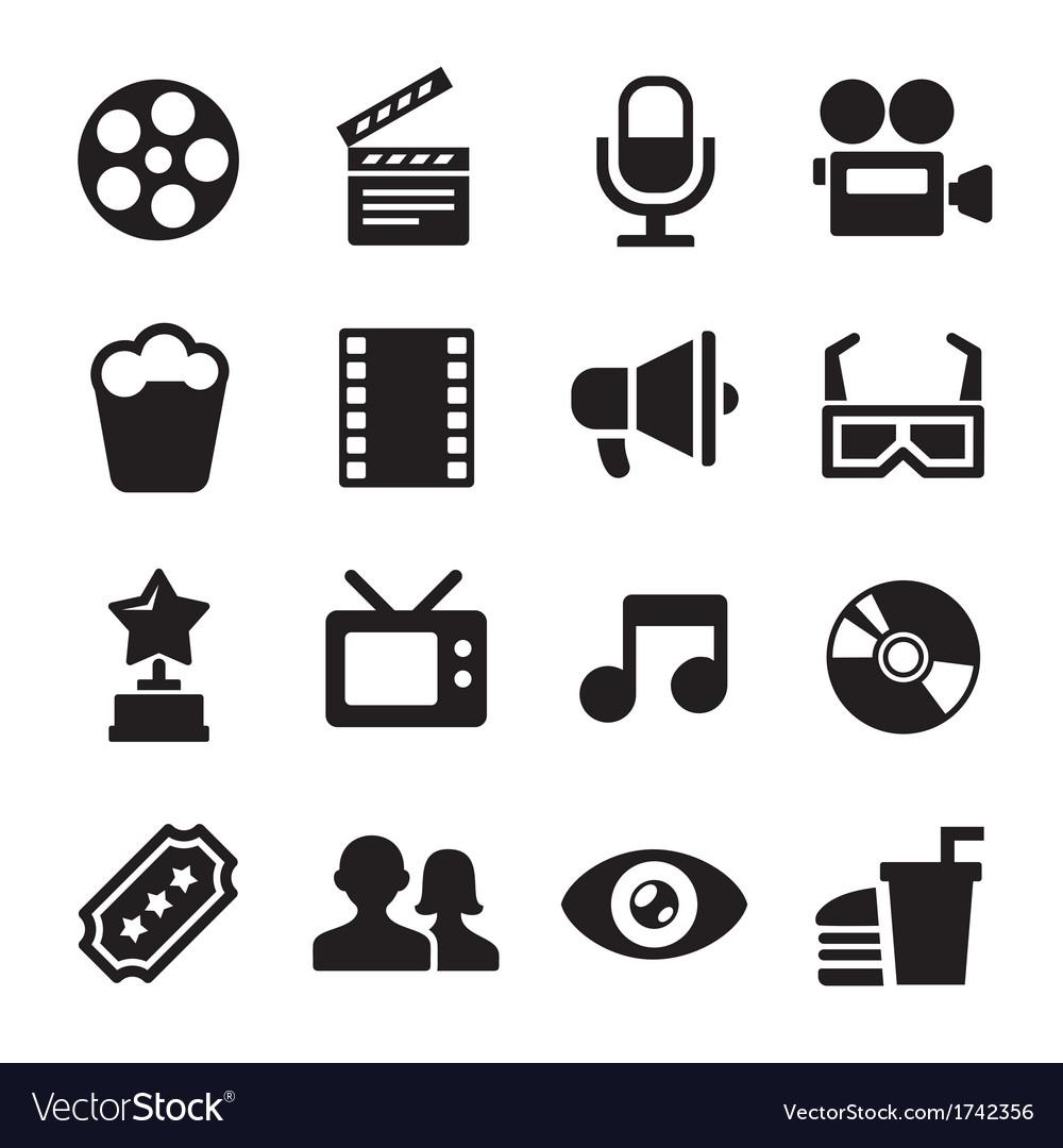 Movie icons set vector | Price: 1 Credit (USD $1)