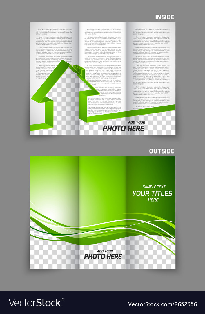 Real estate tri-fold brochure vector | Price: 1 Credit (USD $1)