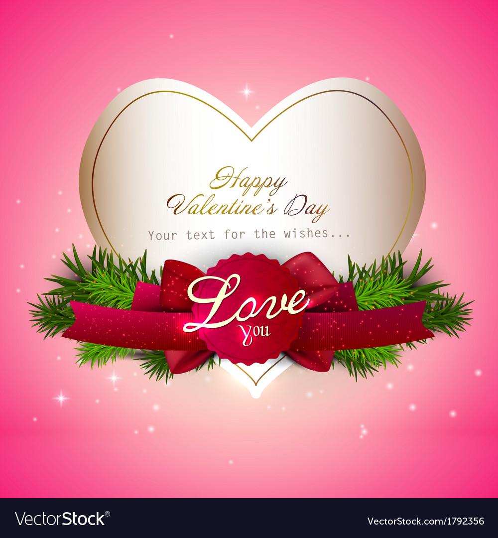 Valentine gift card design vector | Price: 1 Credit (USD $1)