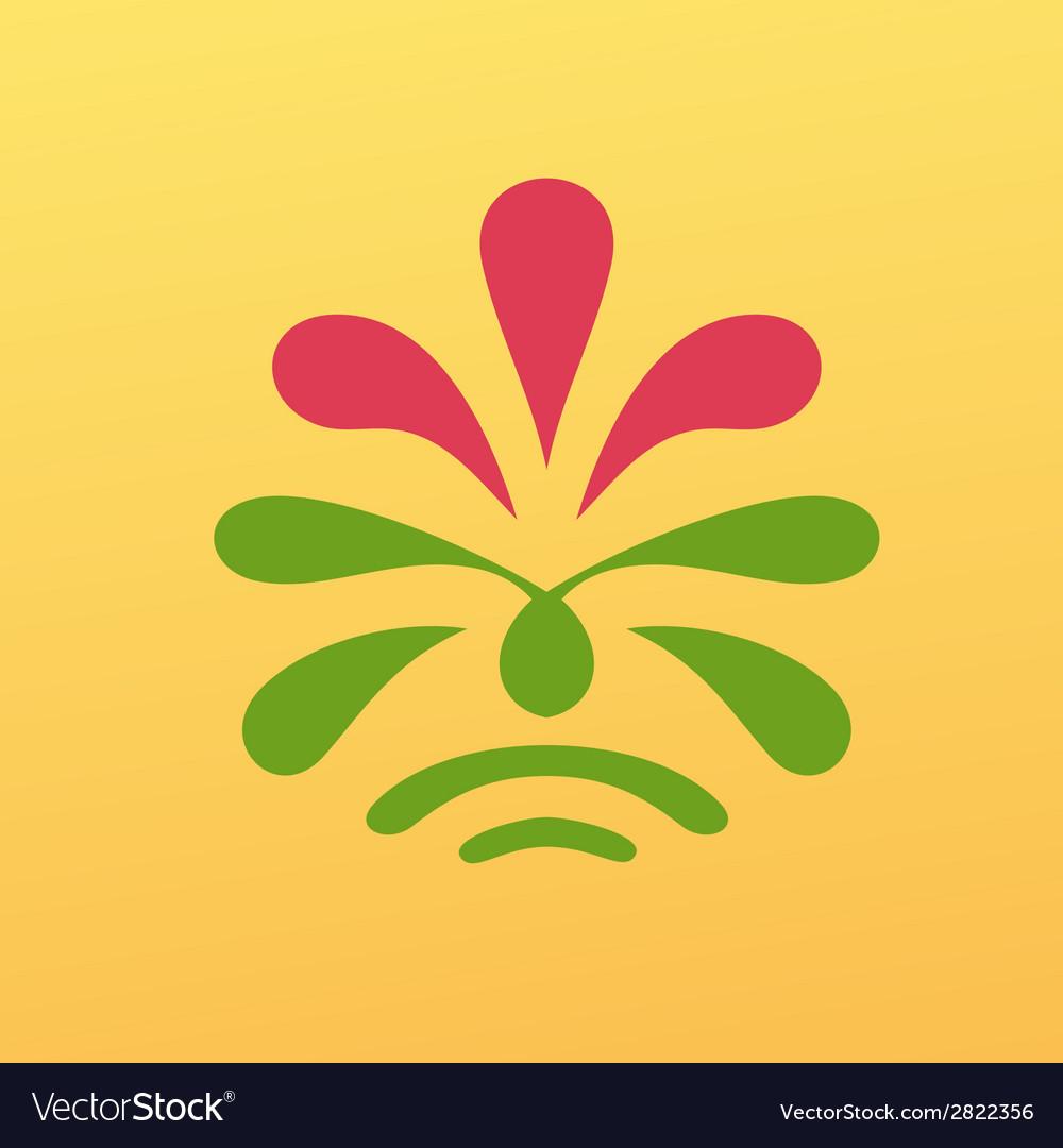 Vintage floral emblem design vector | Price: 1 Credit (USD $1)