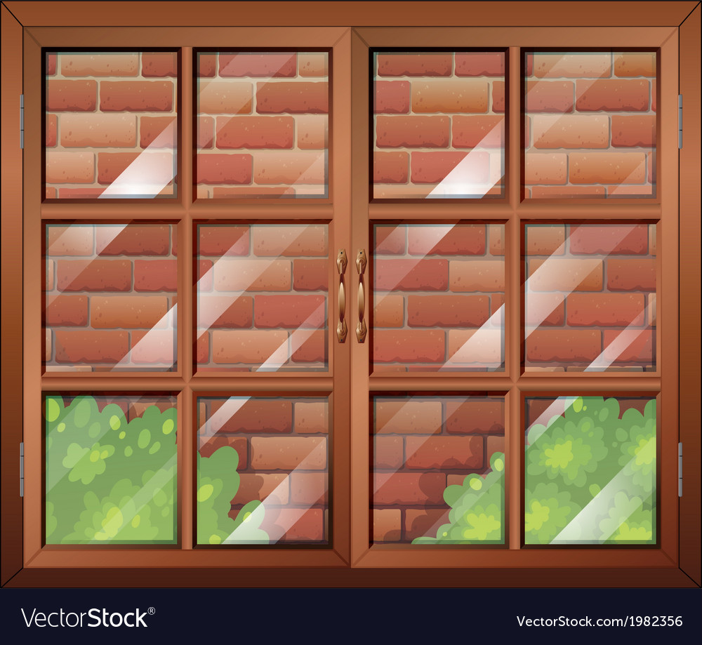 Window looking over backyard vector | Price: 1 Credit (USD $1)