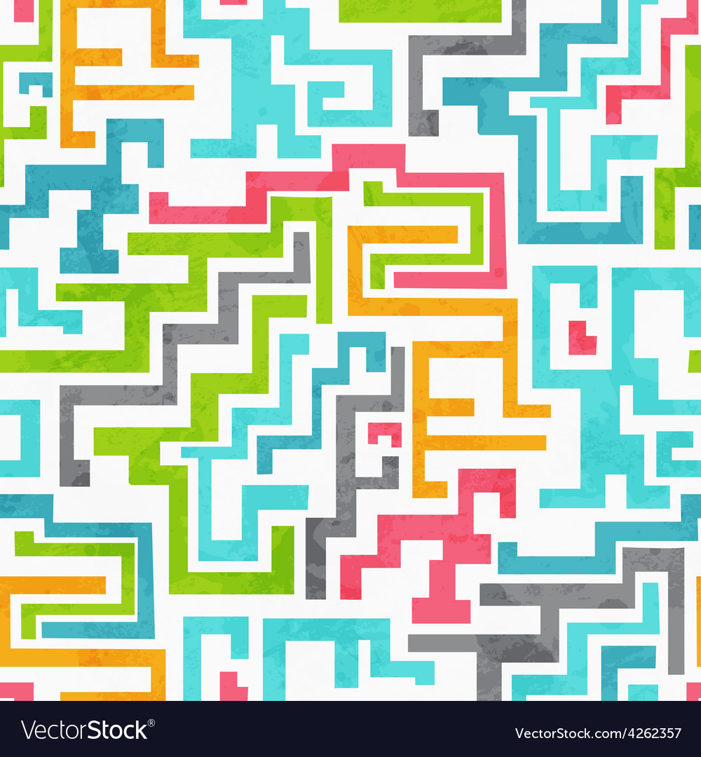 Abstract colored geometric seamless pattern with vector | Price: 1 Credit (USD $1)