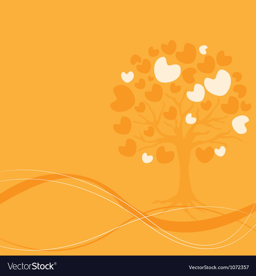 Abstract heart tree vector | Price: 1 Credit (USD $1)