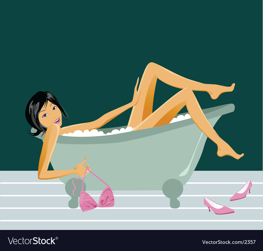 Bath babe vector | Price: 3 Credit (USD $3)