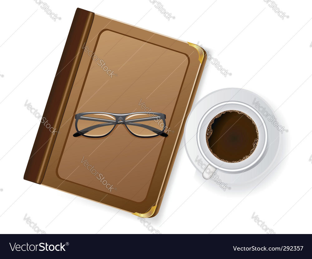 Coffee and notepad vector | Price: 3 Credit (USD $3)