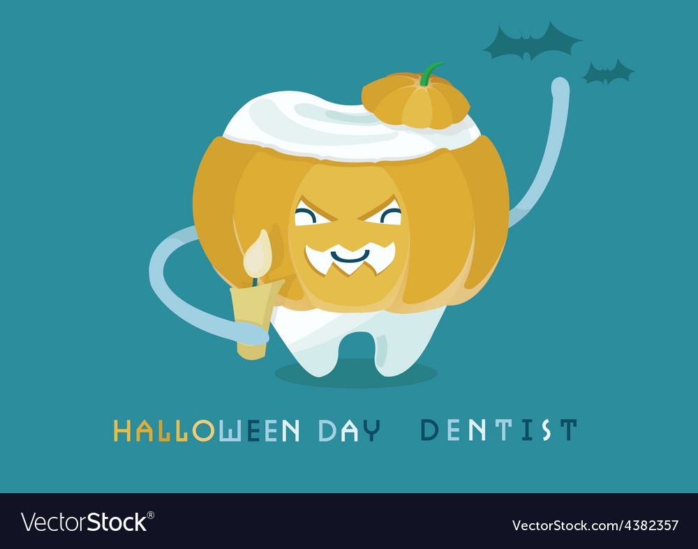 Halloweens day dentist vector | Price: 1 Credit (USD $1)