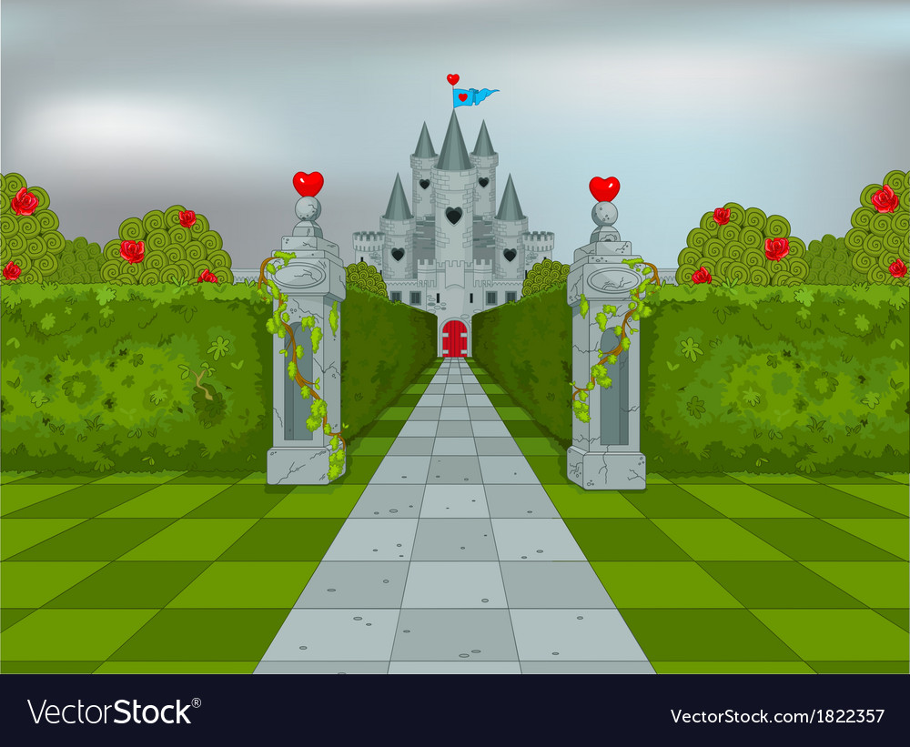 Palace of queen of hearts vector | Price: 3 Credit (USD $3)