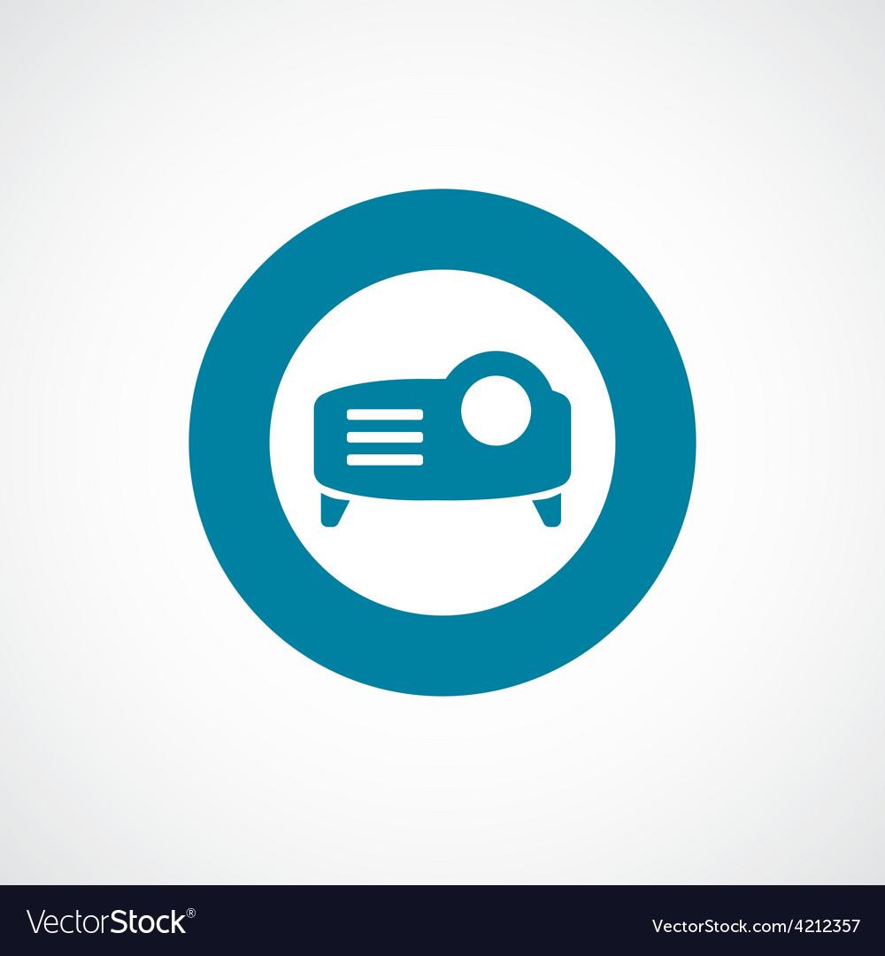 Projector icon bold blue circle border vector   Price: 1 Credit (USD $1)