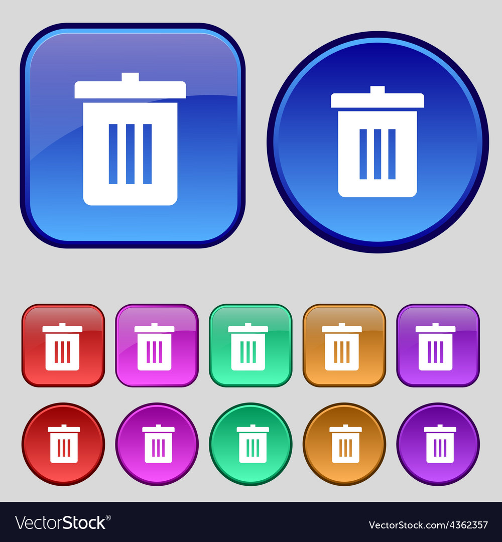 Recycle bin reuse or reduce icon sign a set of vector | Price: 1 Credit (USD $1)