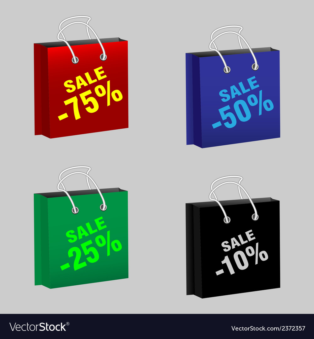 Set sale packages vector | Price: 1 Credit (USD $1)