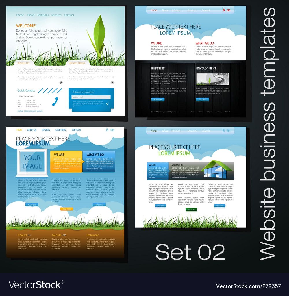 Website set vector | Price: 5 Credit (USD $5)