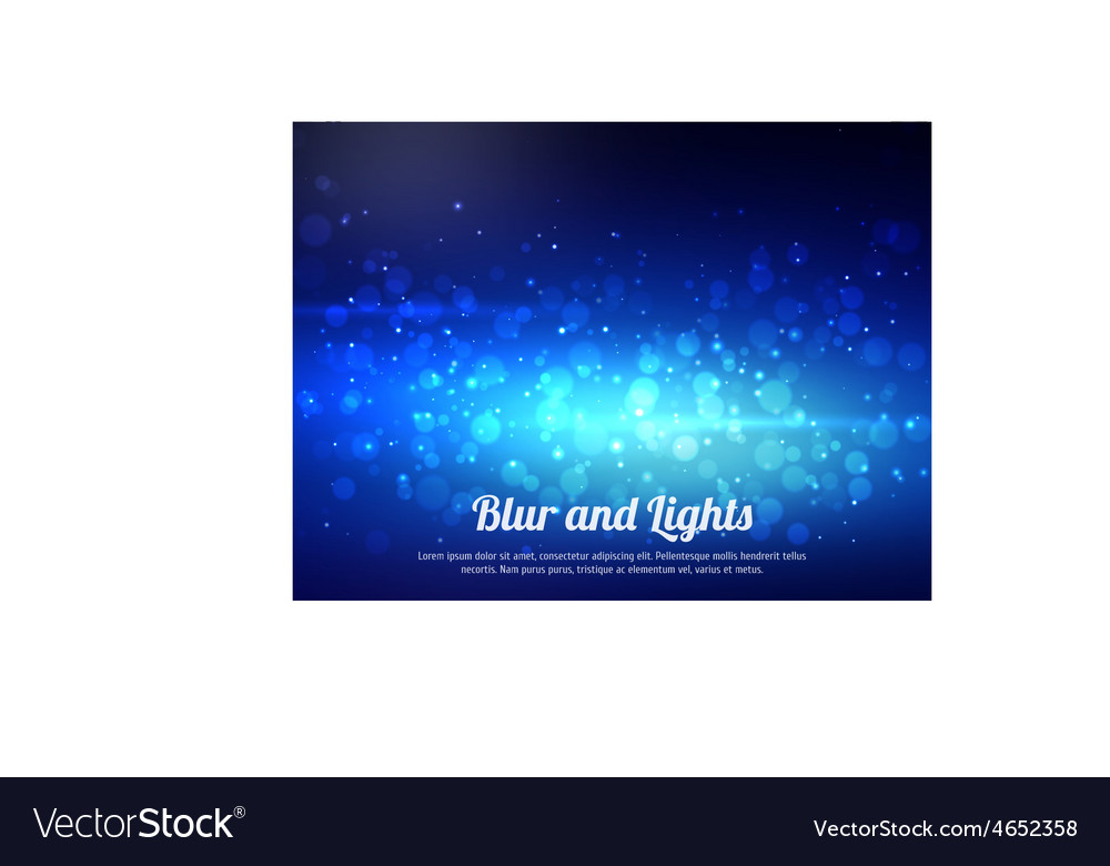 Abstract blue colorful bokeh background festive vector | Price: 1 Credit (USD $1)