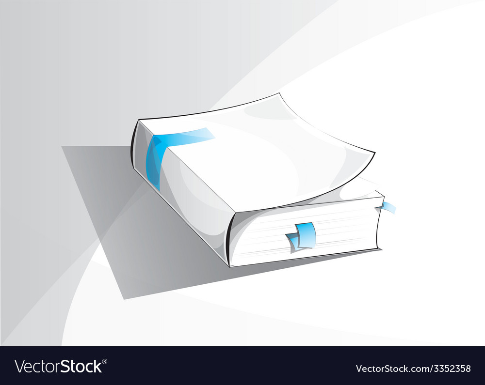 Abstract stylized book vector | Price: 1 Credit (USD $1)