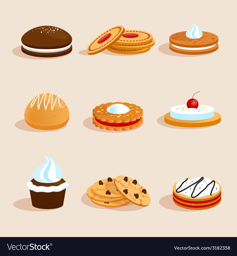 Cookies set isolated vector | Price: 1 Credit (USD $1)