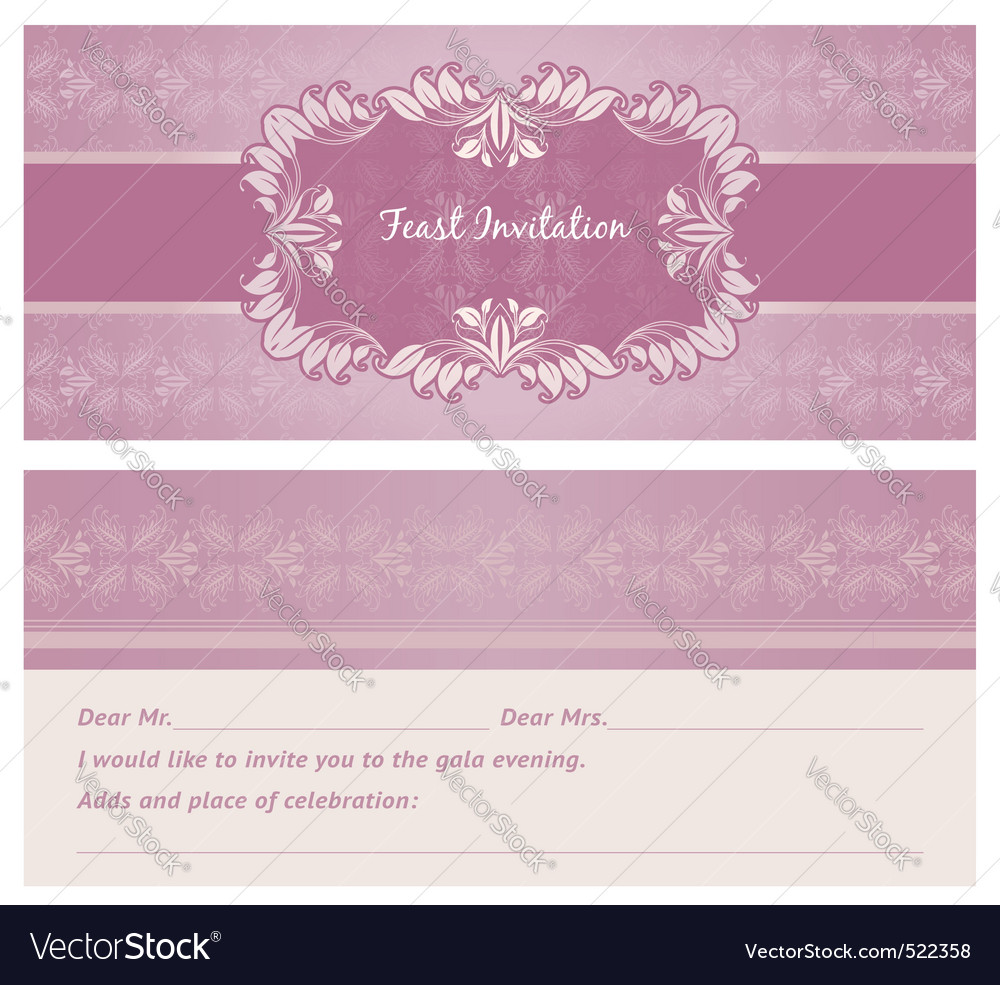Feast invitation backgroun vector | Price: 1 Credit (USD $1)