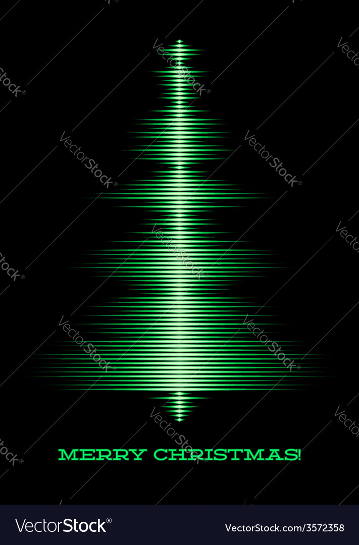 Musical christmas tree card vector | Price: 1 Credit (USD $1)