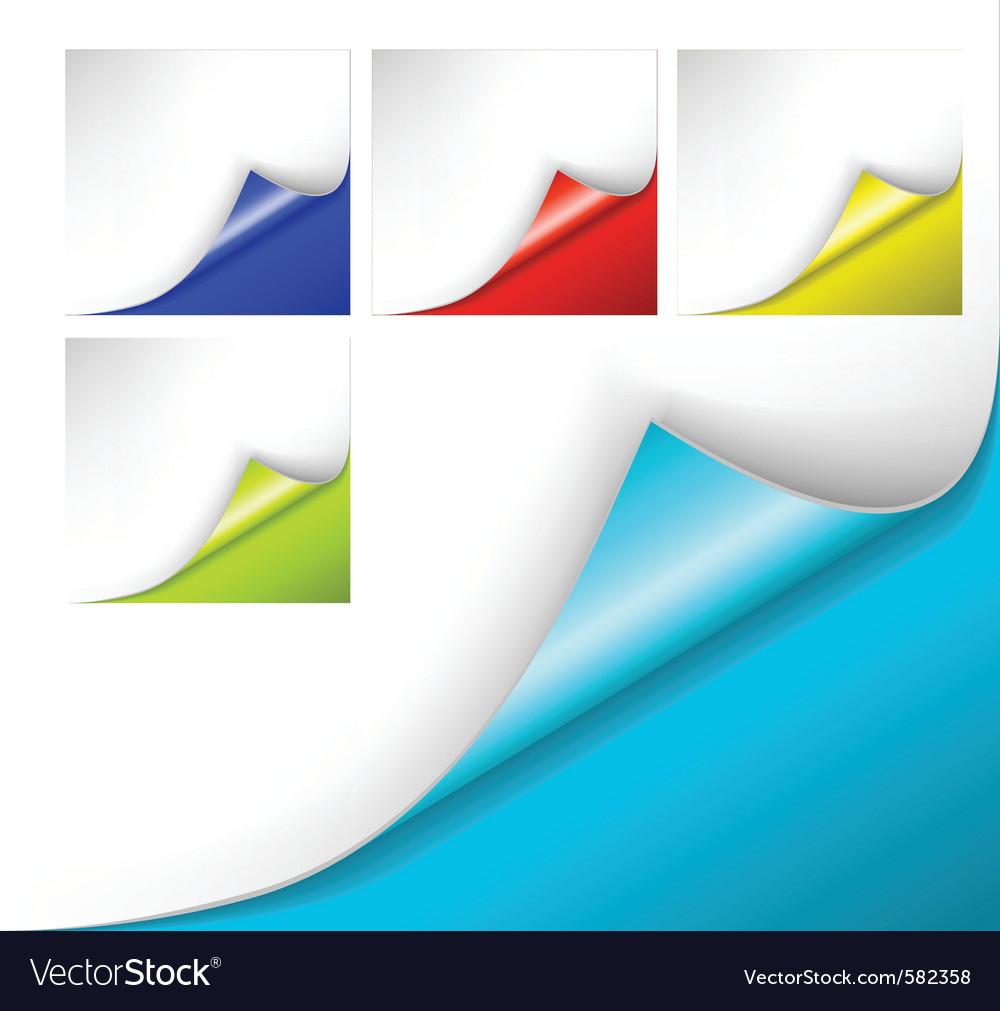 Paper curl vector | Price: 1 Credit (USD $1)