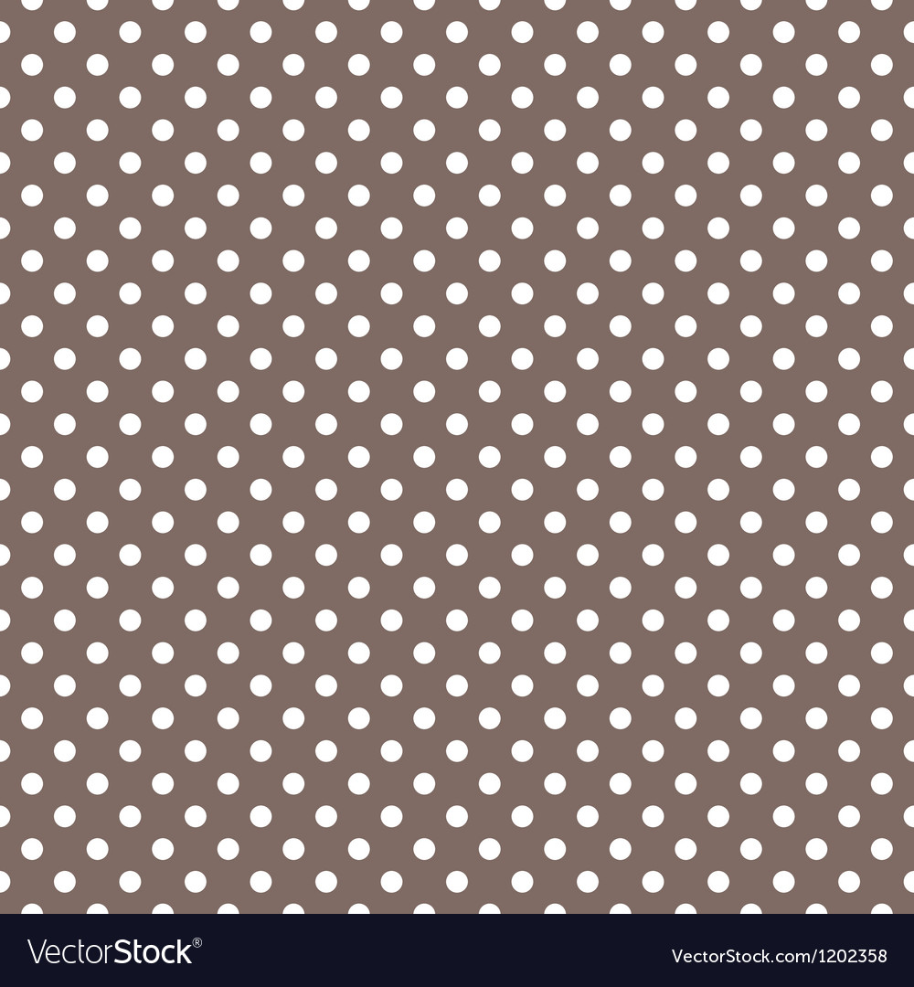 Seamless pattern white polka dots dark background vector | Price: 1 Credit (USD $1)