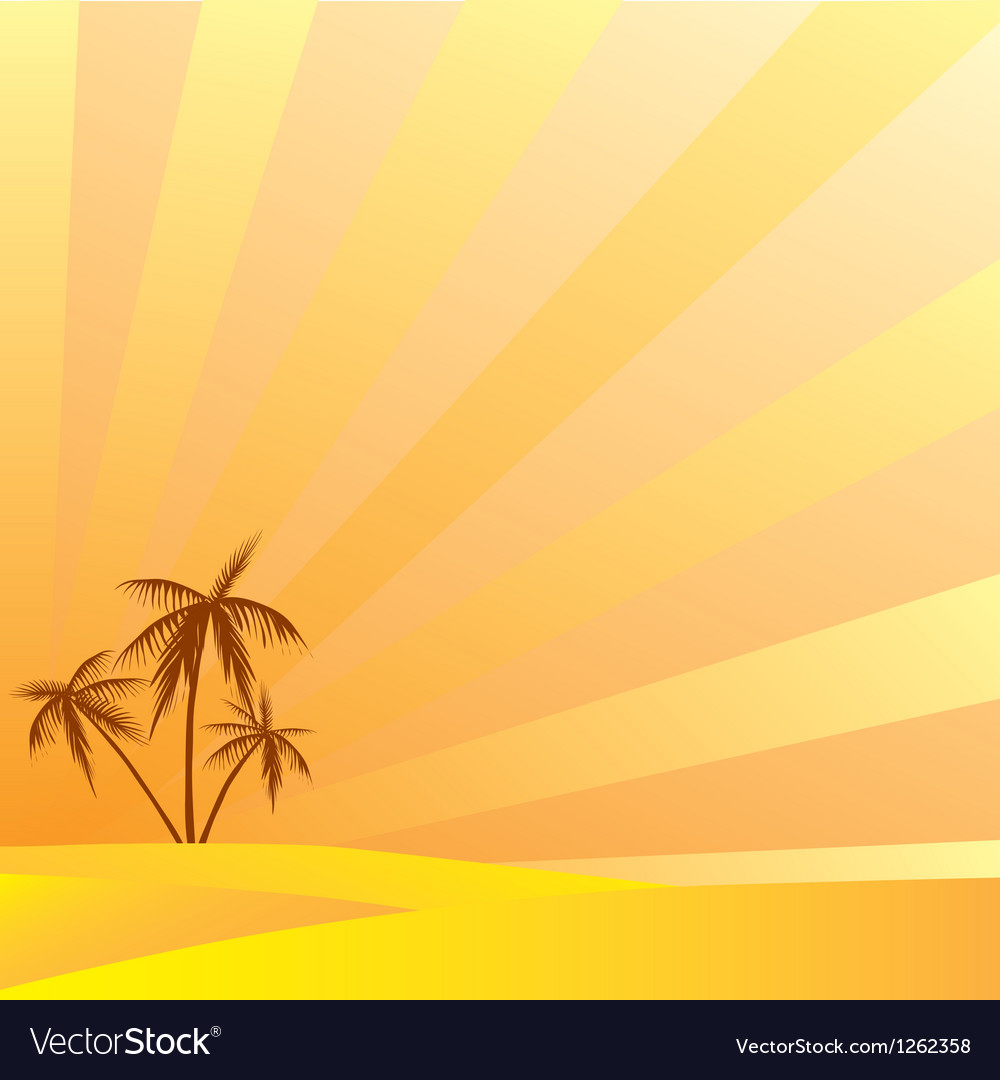 Summer holidays in the south under the palm trees vector | Price: 1 Credit (USD $1)