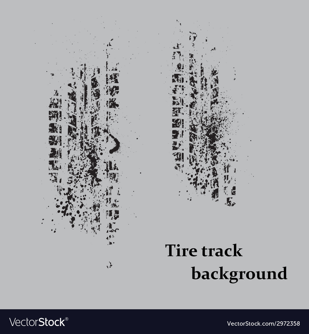 Tire track on gray vector | Price: 1 Credit (USD $1)