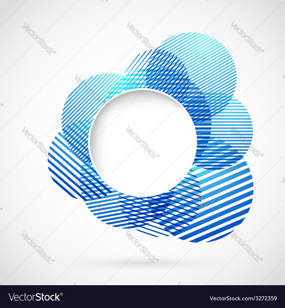 Blue sign design element notifier vector | Price: 1 Credit (USD $1)