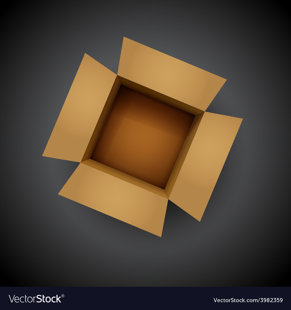 Brown cardboard box vector | Price: 1 Credit (USD $1)