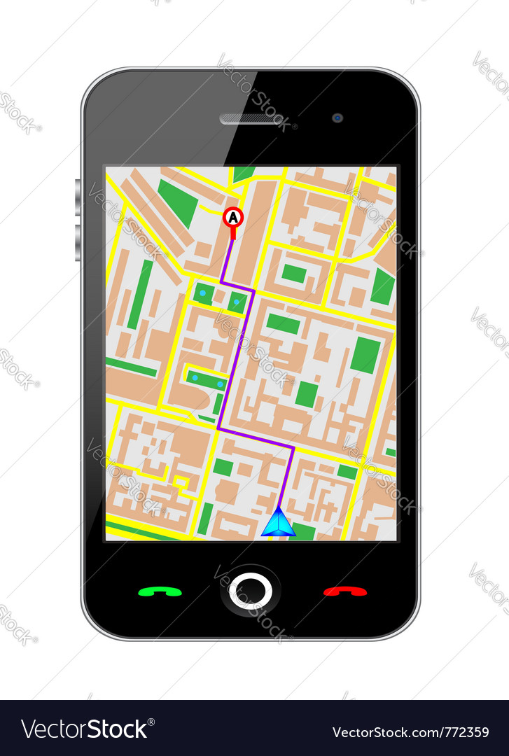 Cellphone gps vector | Price: 1 Credit (USD $1)