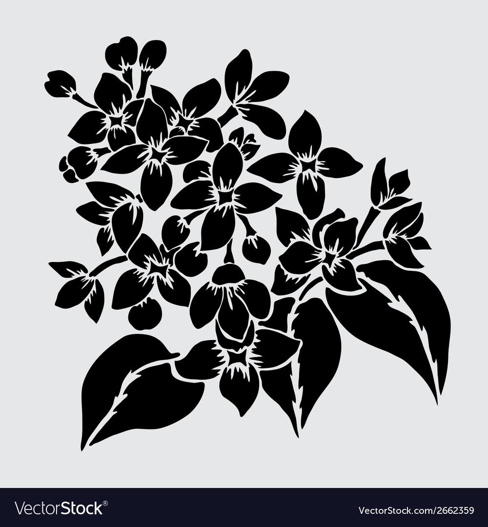 Decorative lilac vector | Price: 1 Credit (USD $1)