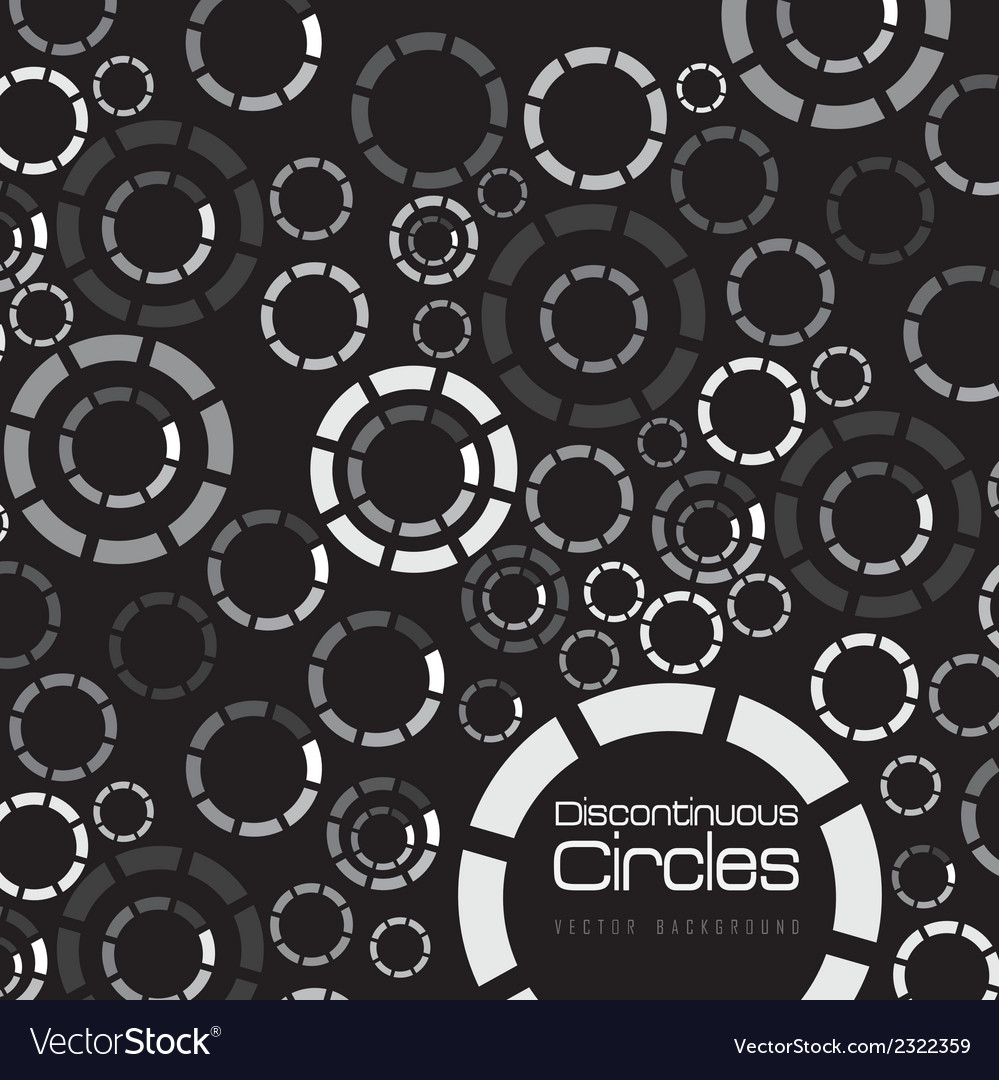 Discontinuous colored circles vector | Price: 1 Credit (USD $1)