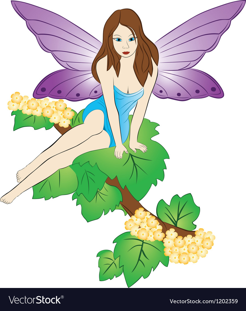 Fairy on the tree vector | Price: 3 Credit (USD $3)