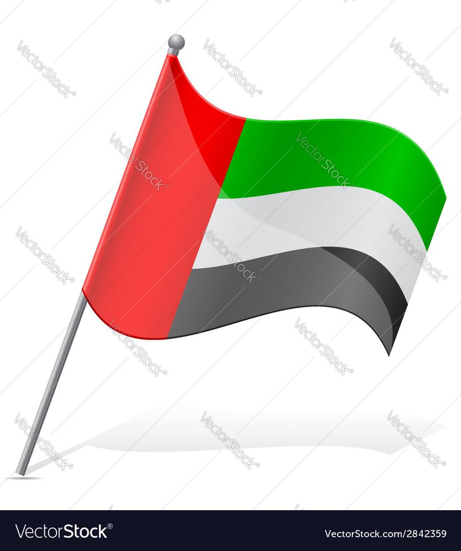 Flag of united arab emirates vector | Price: 1 Credit (USD $1)