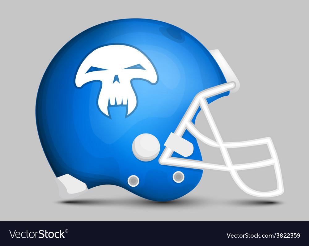 Football team helmet vector   Price: 1 Credit (USD $1)
