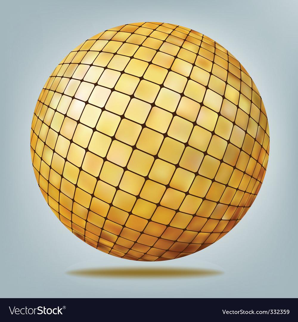 Golden disco ball vector | Price: 1 Credit (USD $1)