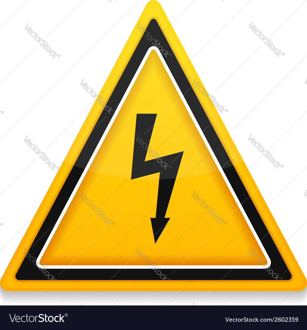 High voltage icon vector | Price: 1 Credit (USD $1)